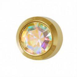 Kolczyki złoty Kryształ Górski
