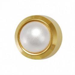 Kolczyki złoty Perła Biała
