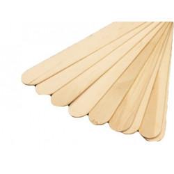 Szpatułki drewniane do wosku MAXI 100szt.