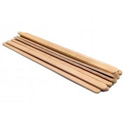 Szpatułki drewniane do wosku MINI Długie 100szt.