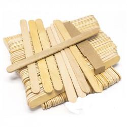 Szpatułki drewniane do wosku MINI 100szt.