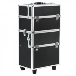 Kuferek kosmetyczny z wózkiem XL Black